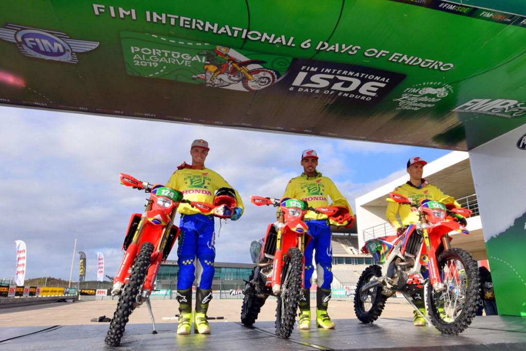 Pilotos da Honda Racing que vão ao International Six Days